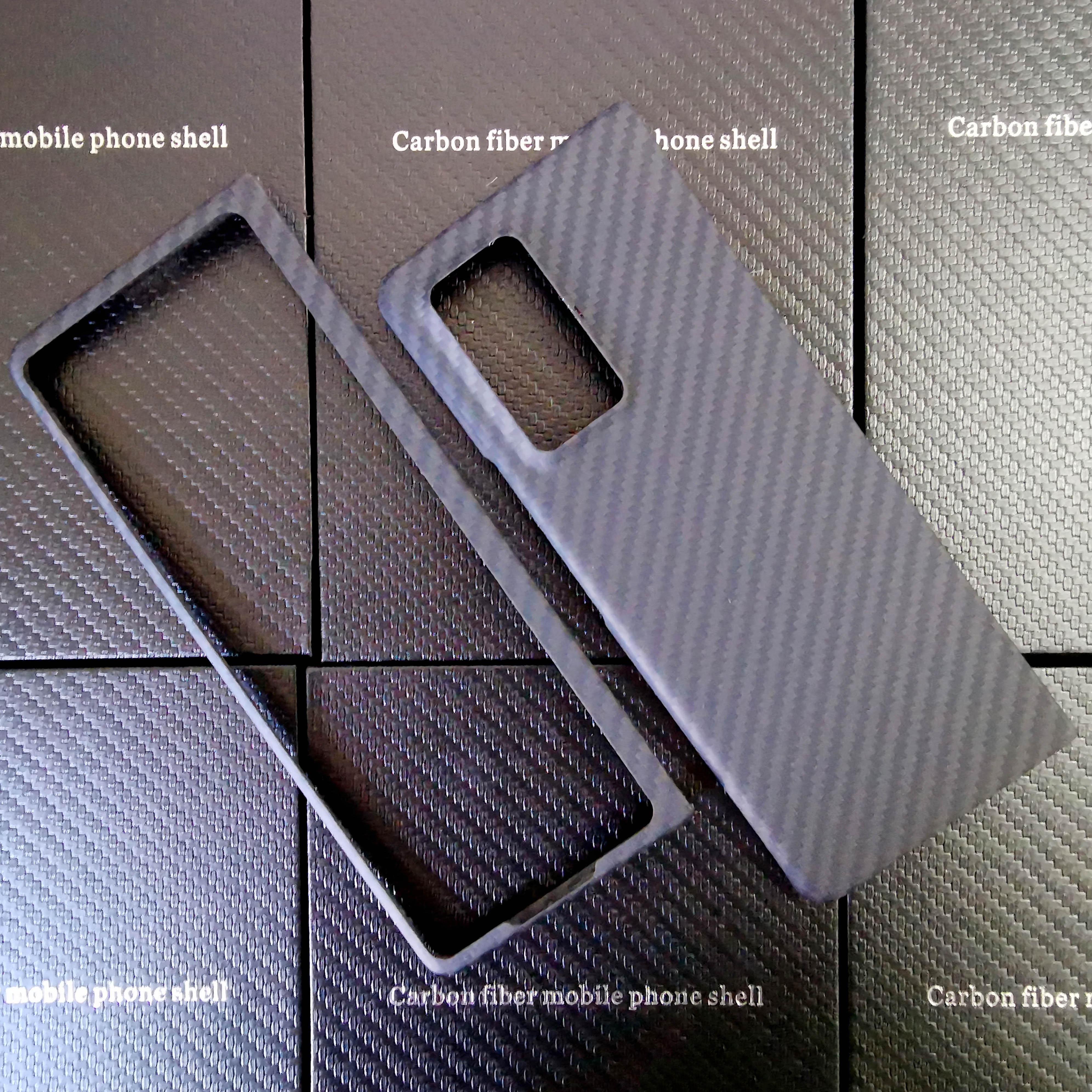 Матовый легкий Чехол ENMOV из настоящего углеродного волокна для Samsung Galaxy Z Fold2, противоударный чехол из углеродного волокна Z Fold2, матовый черны...