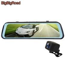 BigBigRoad جهاز تسجيل فيديو رقمي للسيارات داش كاميرا تيار مرآة الرؤية الخلفية IPS شاشة ل Trumpchi GA3S GA4 GA6 GA8 GM6 GS3 GS4 GS5 GS7 GS8 GM8 GA3 GA5