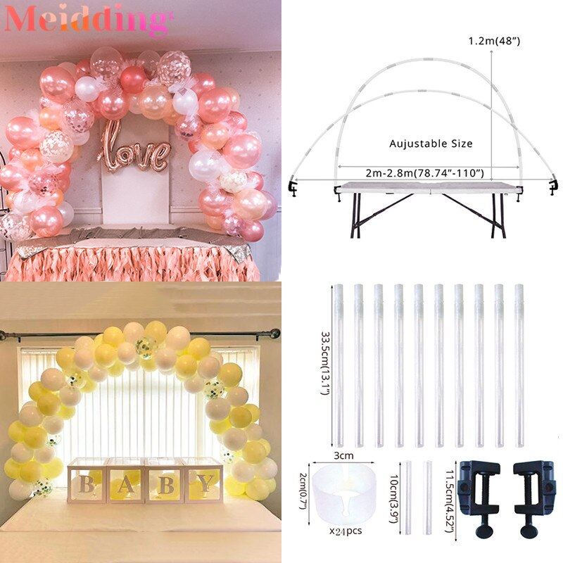 Wedding Balloon Arch Kit Table Arch Ballon Stand Column Birthday Party Decorations Kids Baby Shower Globos Balloon Accessories