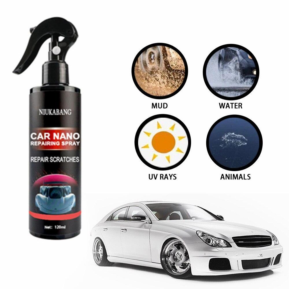Anti risco hidrofóbico polonês nano agente de revestimento nano carro remoção de riscos spray reparação nano spray reparador arranhões para carro