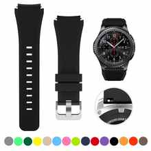 22MM Silicone Band for Samsung galaxy watch 3 46mm soft silicone sport strap Compatible with Huawei Watch GT2 46mm /Amazfit 47mm