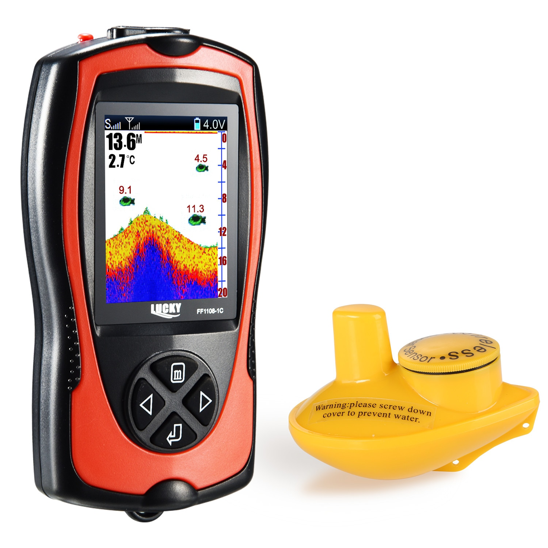 FF1108-1CLA& FF1108-1C Depth Finder Sonar Fish Finder Light Lure Sensor Deeper echo sounder Sea Fishing Radar Equipment enlarge