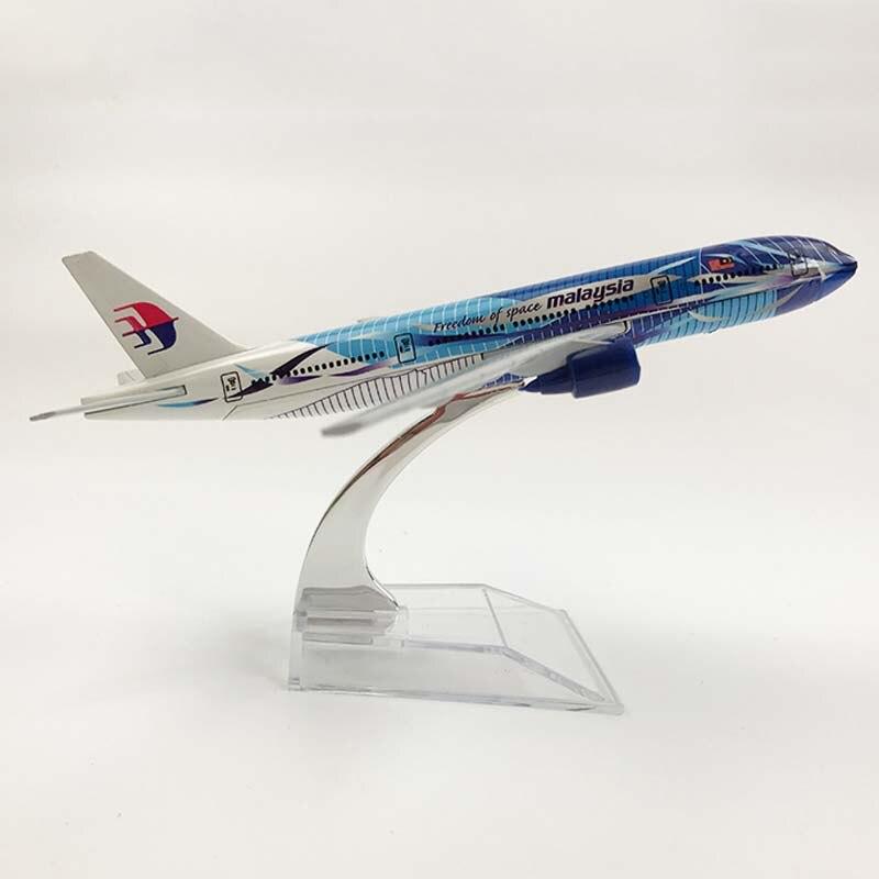16 cm malásia linhas aéreas linha de onda boeing 777 aeronaves modelo simulação passageiros aeronaves liga estática decoração coleções