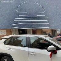 car window pillar trim cover stainless steel door middle column moulding trim decoration for toyota rav4 rav 4 2019 2020 2021