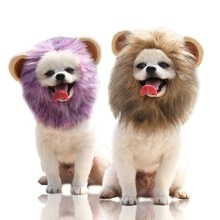 Halloween Pet Dog Lion Mane Wig Hair Funny Pet Dog Cat Headgear Cosplay Costume Personalized Wig Dec