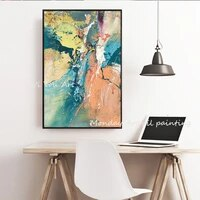 canvas art hand painted modern oil painting on canvas abstract art oil painting pictures for living room hotel office wall decor