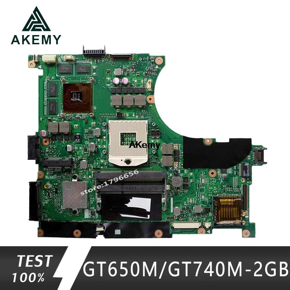 Akemy N56VB/N56VM اللوحة لابتوب For Asus N56VB N56VJ N56V N56VV اختبار اللوحة الأصلية GT650M/GT740M-2GB دعم i3 i5 i7