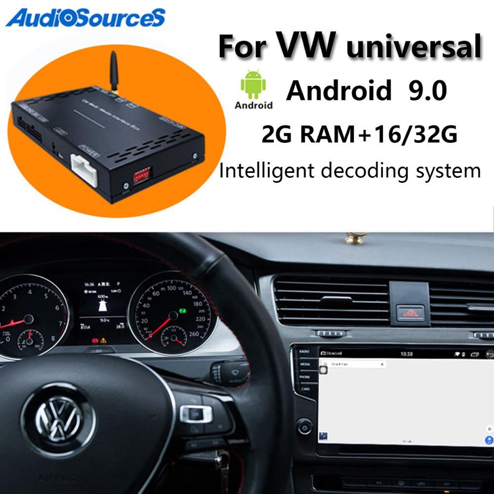 AliExpress - Auto Android 9.0 Carplay Car multimedia player decoding box For VW/Volkswagen/Golf/Polo/Tiguan/Passat/b7/CC/SEAT/leon/Skoda