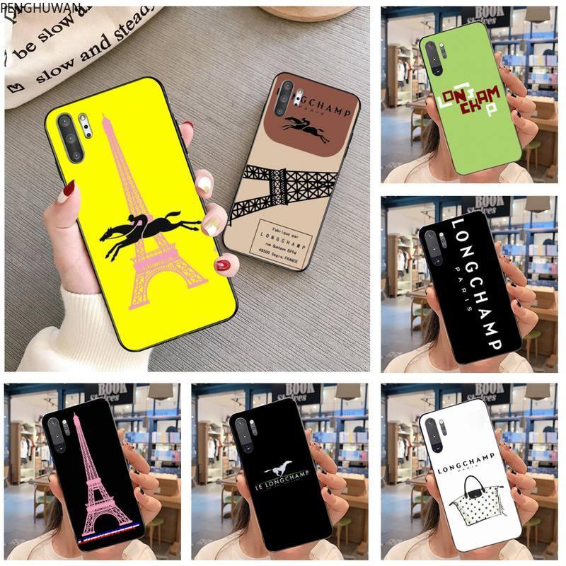 Penghuwan marca francesa longchamp caso de telefone para samsung galaxy note20 ultra 7 8 9 10 plus lite j7 j8 plus 2018 prime