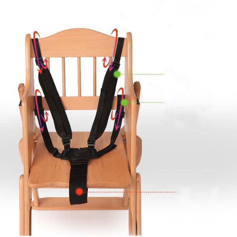 Baby Universal 5 Point Harness High Chair Safe Belt Seat Belts For Stroller Pram Buggy Children Kid