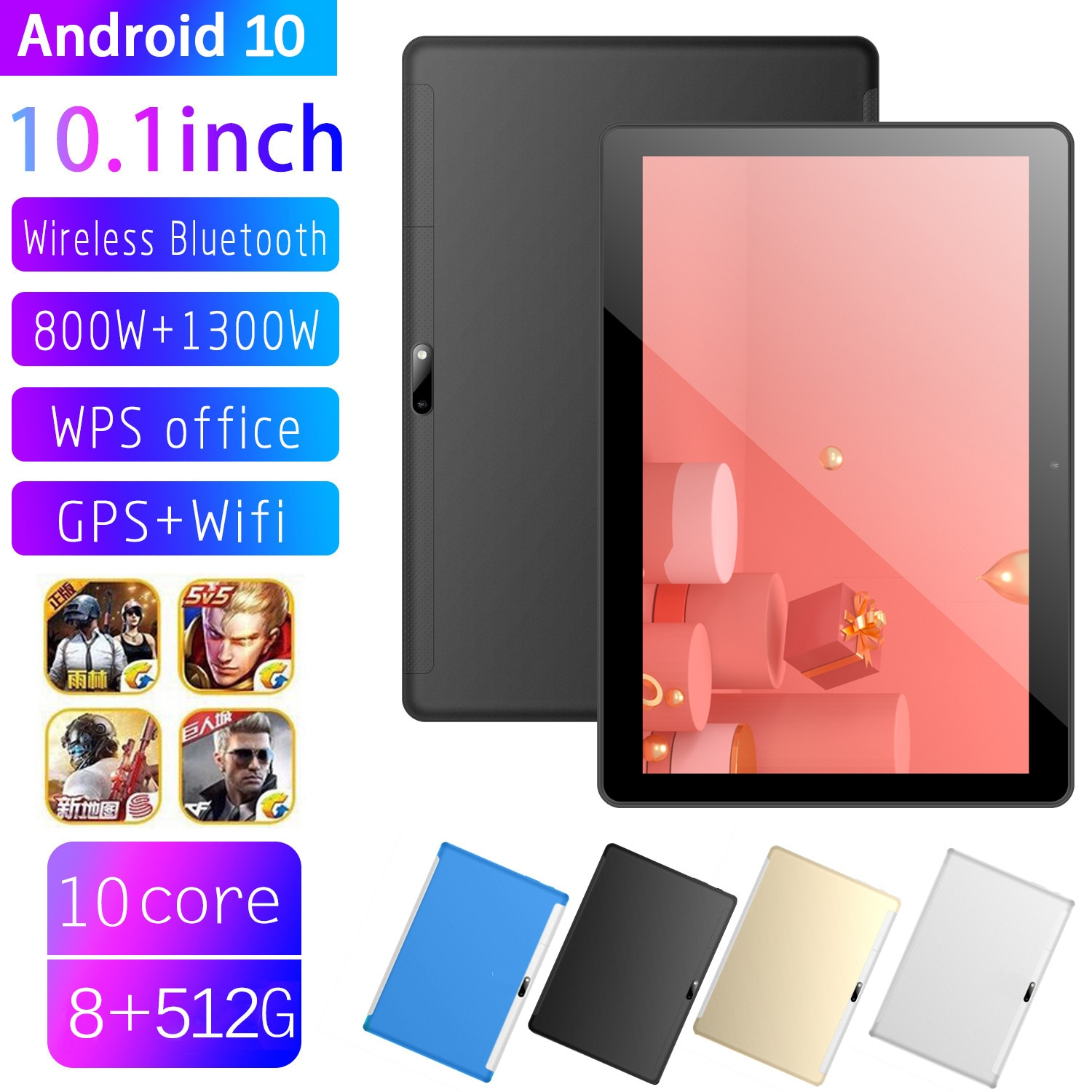 T10 10-inch Tablet PC Android 10 Tablet PC Ten Core Manufacturers Spot Wholesale