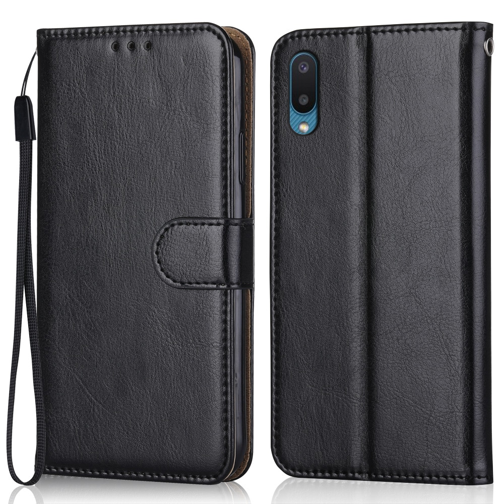 Luxury Leather Case for On Samsung Galaxy A02 A022 A022F SM-A022F 6.5'' Wallet Stand Flip Case Phone