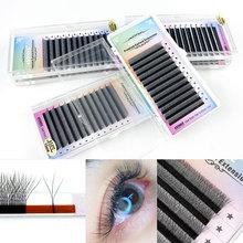 LAKANAKU 3D W Shape Synthetic Lash Extensions Mix Trays Premium Mink Eyelash Trays Professional Mink