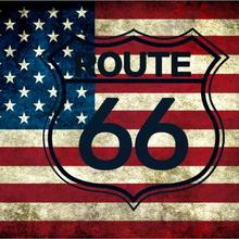 Route 66 Motorcycle Biker Rider Retro USA Flag  Banner Art Home Decoration Hanging flag 4 Gromments