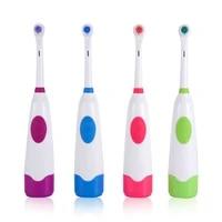 4colors waterproof dental care rotary teeth whitening antibacterial brush hair electric toothbrush with 2replaceable brush heads