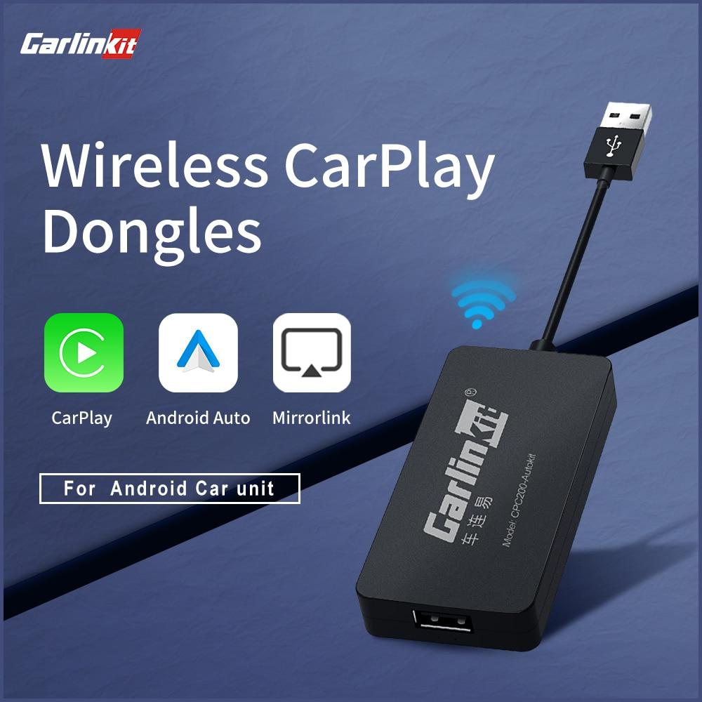 Carlinkit USB دونغل Carplay صندوق أندرويد Carpaly AI صندوق لاسلكي ميرورلينك سيارة مشغل وسائط متعددة بلوتوث مجموعة اتصال السيارات