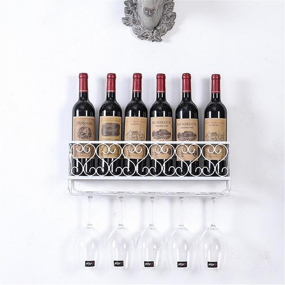 Металл вино стойка с бутылка держатели стена крепление органайзер посуда хранение полка дисплей подвес кухня бар декор аксессуары