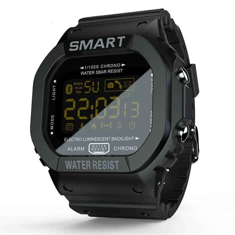 MK22 بلوتوث ساعة ذكية الرجال النساء جهاز تعقب للياقة البدنية عداد الخطى تذكير ساعة سوار الرقمية BT الرياضة مقاوم للماء Smartwatch