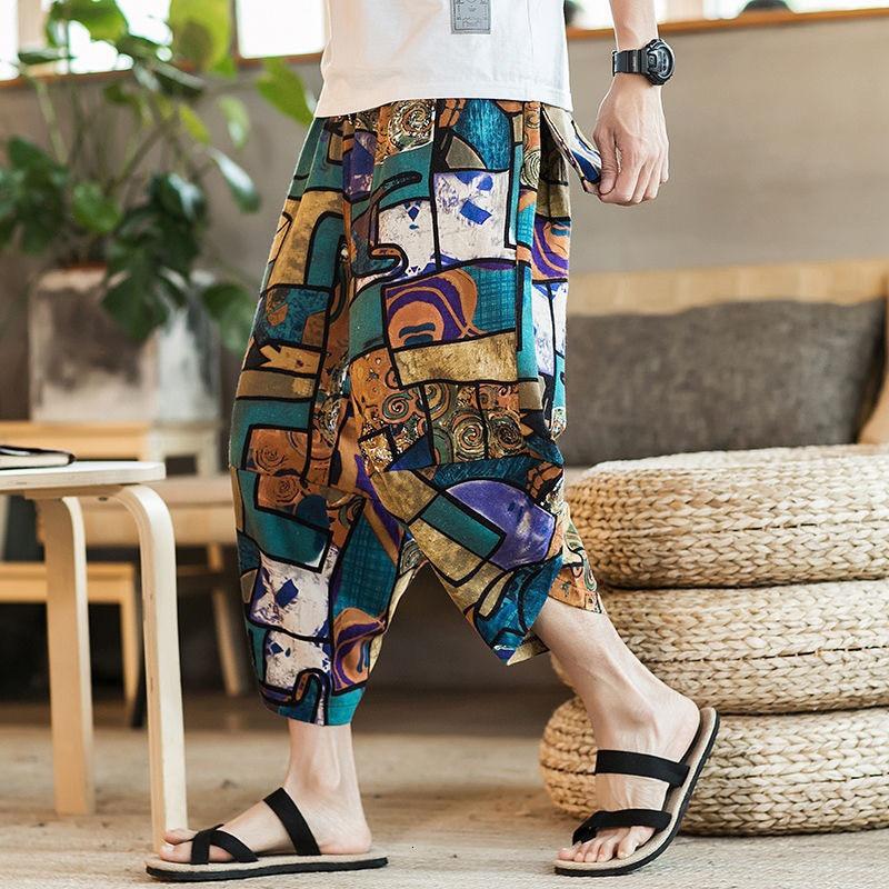 Pantalones de piernas anchas de playa de moda para hombres, ropa tradicional india, pantalones Sari tailandés, bombachos impresos paquistaníes, ropa de calle Hippie