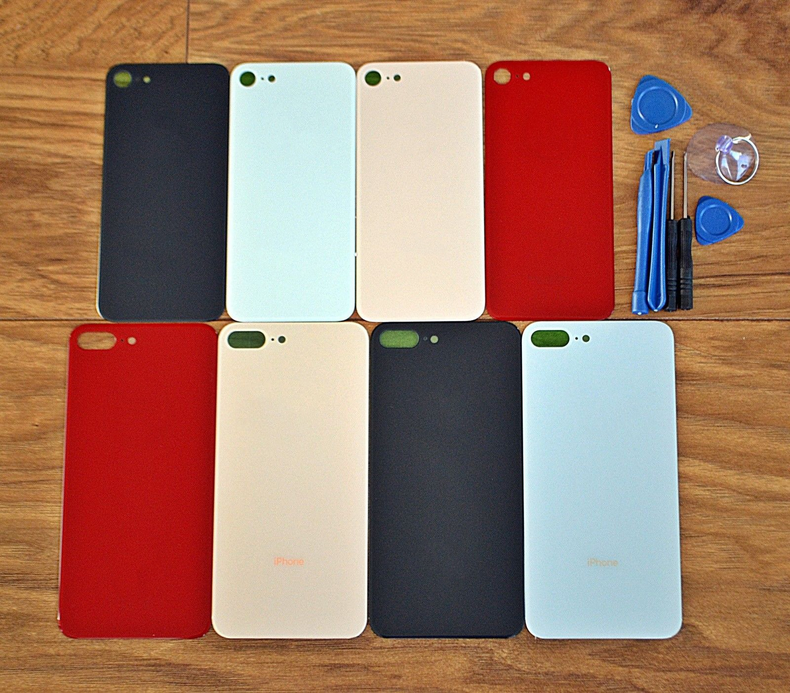50 PCS For Apple iPhone 8 / 8 Plus High Quality Battery Cover Rear Back Housing cover Glass For iphone 8 4.7'' or 8 Plus 5.5'' enlarge