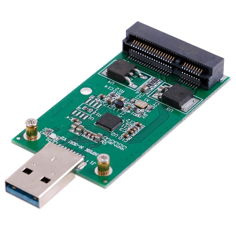 Mini usb 3.0 para pcie msata externo ssd pcba adaptador de transporte cartão conectores de cabo de computador