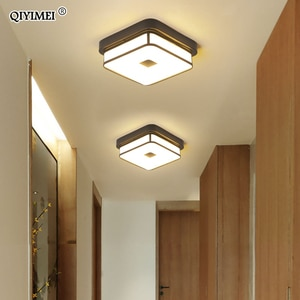 Modern Led Chandeliers For Hallway Balcony Corridor Home Entrance Round Square Simple Indoor Lamp Lighting Fixtures Luminaria