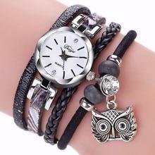 Hot Sale Women Wristwatches Leather Winding Bracelet Watch Ladies Luxury Watches Women New Arrival D