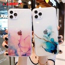 N1986N Pour iPhone 11 Pro X XR XS Max 7 8 Plus SE 2020 Mode Paillettes Bling Coloré Clair Peint IMD Pour iPhone 11