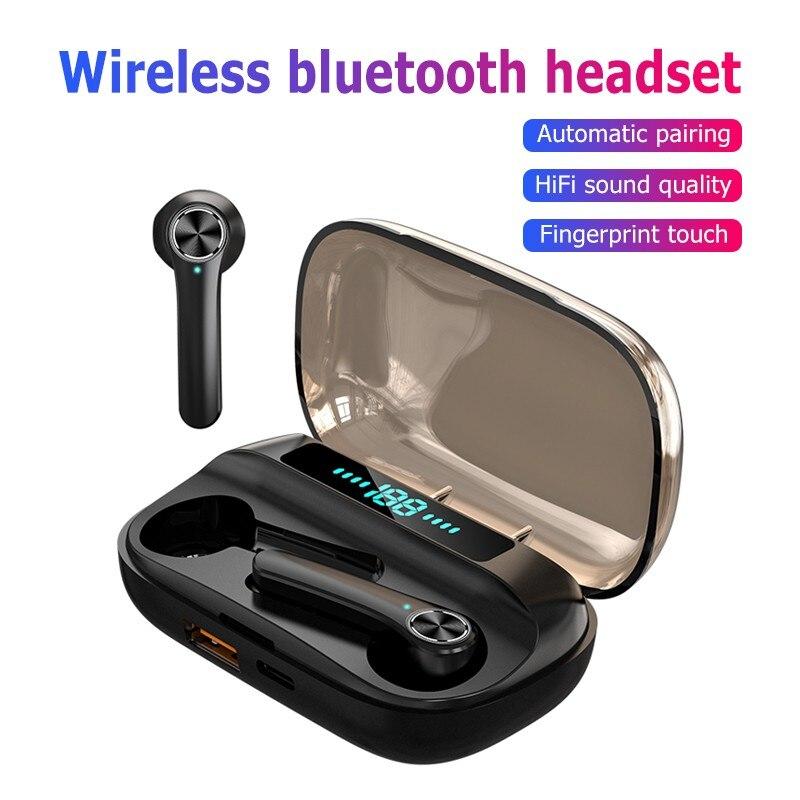 Tws auricolare cuffie Bluetooth senza fili cuffie da gioco Stereo Hifi con microfono riduzione del rumore Display gaming earbuds