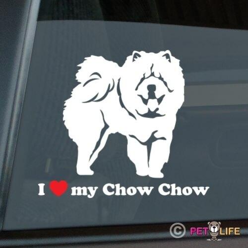 I Love My Chow Sticker Die Cut Vinyl - v2 автомобильные наклейки