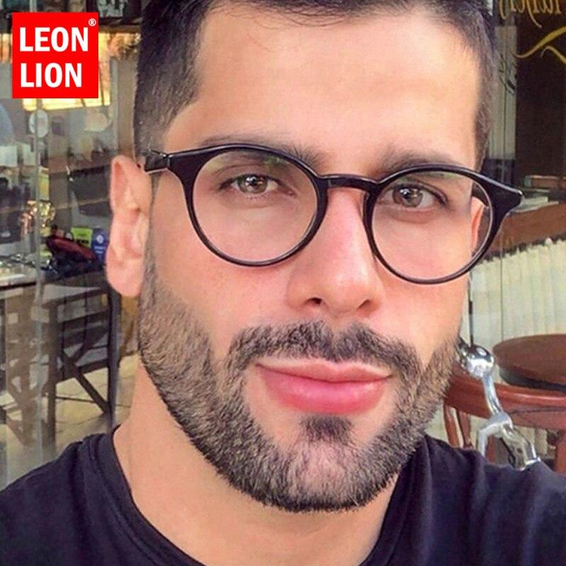 LeonLion 2019, Gafas De Sol De lujo para hombre, Gafas De Sol redondas transparentes para hombre/mujer, Gafas De Sol Vintage para hombre, Gafas De Sol Retro