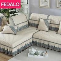 sofa cushion european style fabric four seasons universal thickening non slip high end sofa cover machine washable
