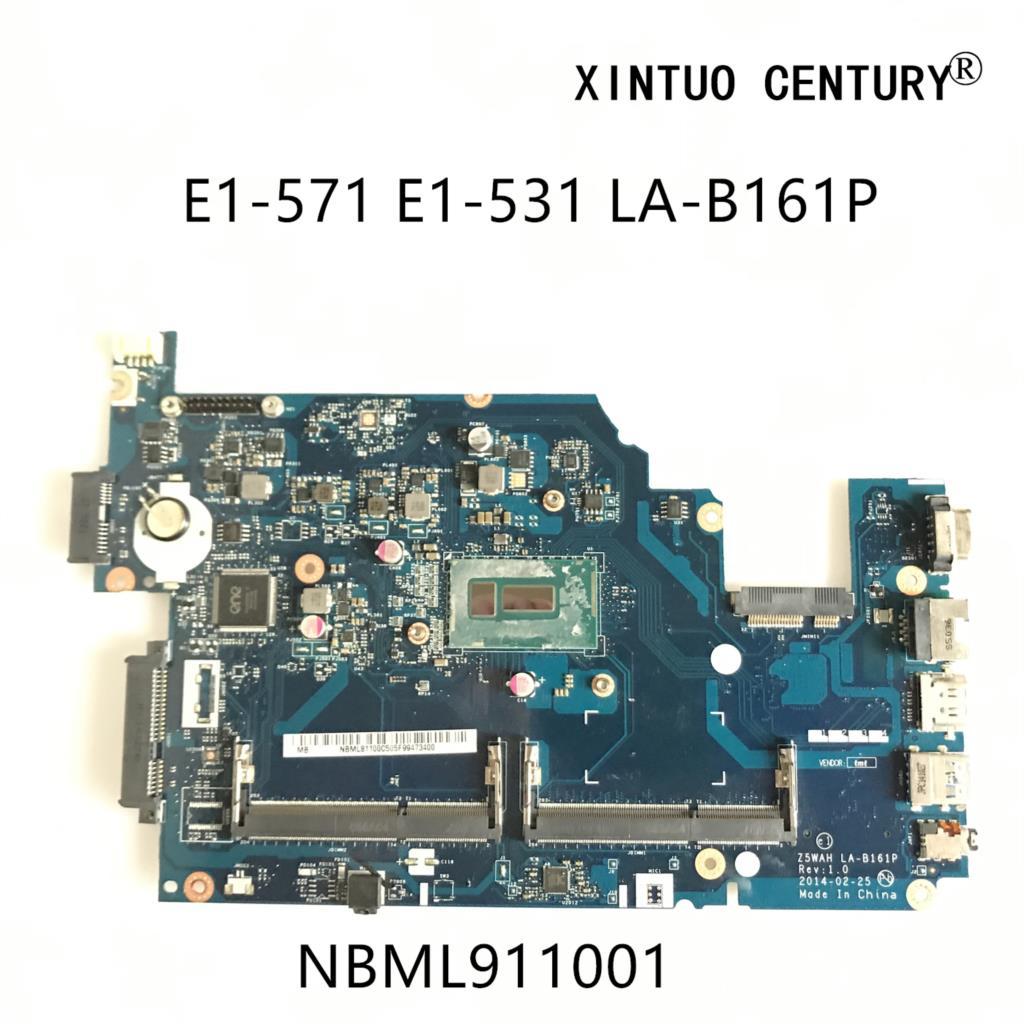 NBML911001 لشركة أيسر أسباير E5-571 E5-531 اللوحة المحمول Z5WAH LA-B161P ملحوظة. ML911.001 DDR3 SR1DV 2957U CPU 100% اختبار العامل