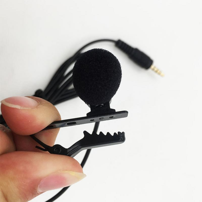 1set Microphone Clip-on Collar Tie Mobile Phone Lavalier Microphone Pocket, Multi Tools 30HZ-15KHZ