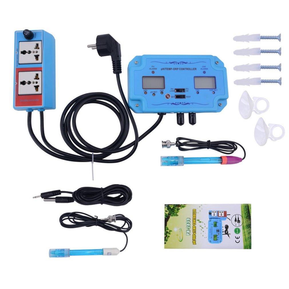 Controlador 3 en 1 pH/TEMP/ORP, Detector de calidad de agua, tipo BNC, Analizador de Probador de Calidad del Agua, Monitor de acuario
