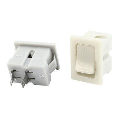 2 piezas de montaje en Panel de encendido y apagado interruptor basculante SPST rectángulo AC250V 1A