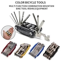 bicycle bike tools repairing set 15 in 1 bike repair tool kit wrench screwdriver chain carbon steel bicycle multifunction tool