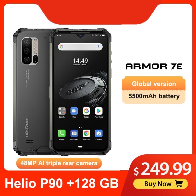 Ulefone Armor 7E 6,3 дюймIP68 прочный водонепроницаемый мобильный телефон Helio P90 Octa Core 4 Гб 128 Гб Смартфон Android 10 Мобильный телефон 5500 мАч