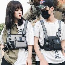 Sac de poitrine tactique pour hommes, sac à dos, Hip Hop unisexe, sac à dos Streetwear, sac Sport taille solide