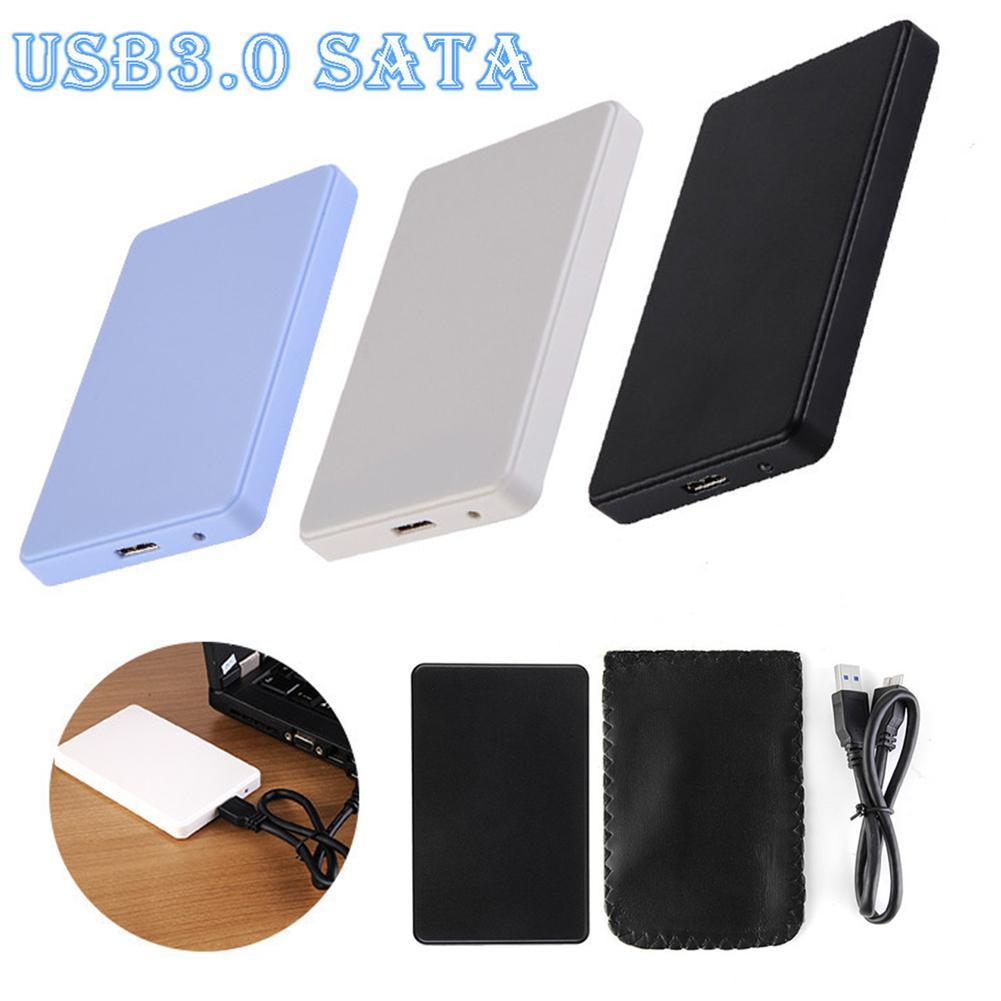 Carcasa de disco duro móvil SATA a USB3.0 HDD de 2,5 pulgadas para SSD caja de almacenamiento externo HDD con Cable ABS USB3.0/2TB