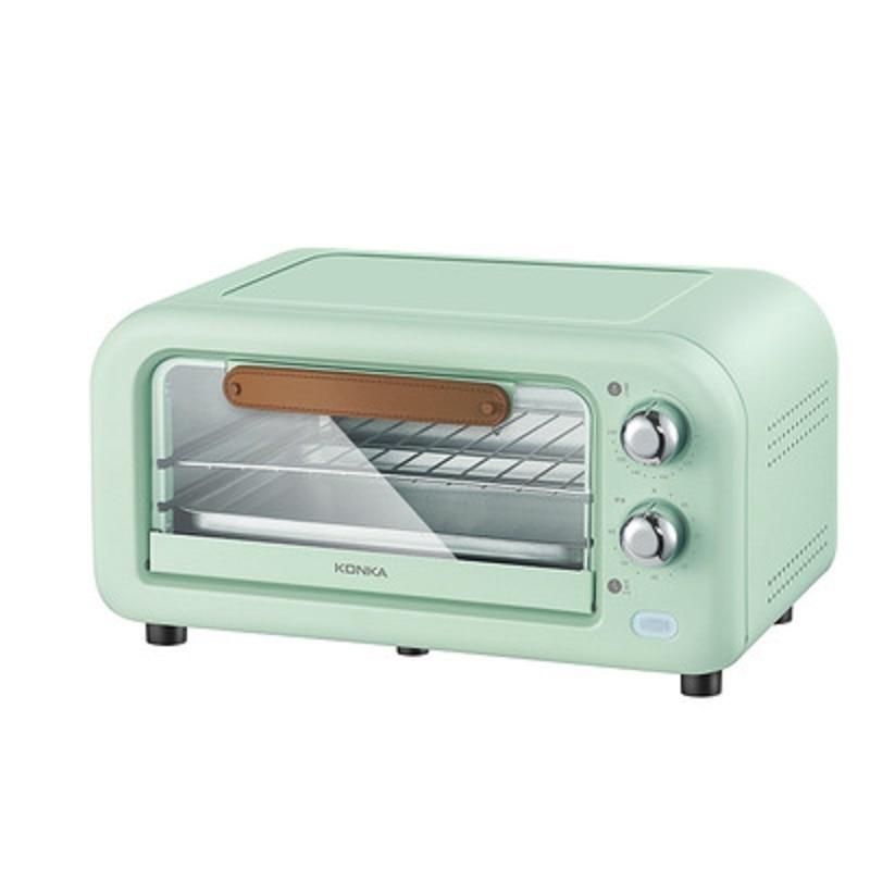 فرن كهربائي منزلي سعة 12 لتر ، موقد تحميص مزدوج ، فرن خبز ذكي ، فرن كهربائي صغير شفاف