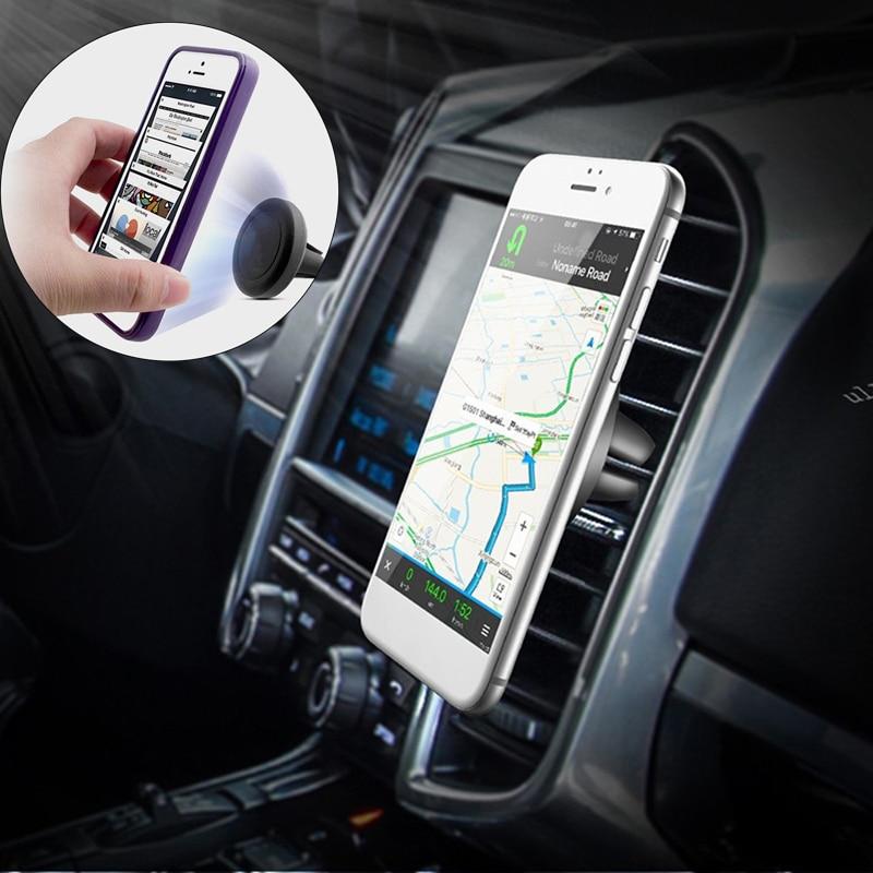 MALUOKASA-support de téléphone magnétique   Pour iphone 8 7 6s Samsung S8, évent GPS support Mobile universel pour téléphone, attache automatique