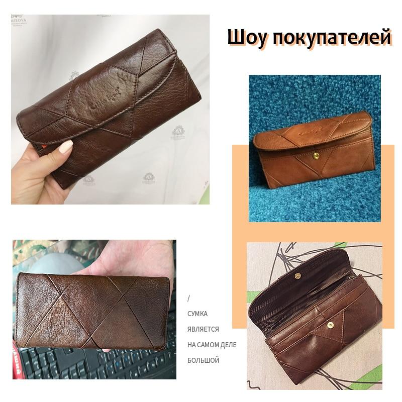 Купить с кэшбэком Cobbler Legend Diamonds Patchwork Genuine Leather Wallet Birthday Gift For Woman Purse female Designers Brand Woman Wallet money