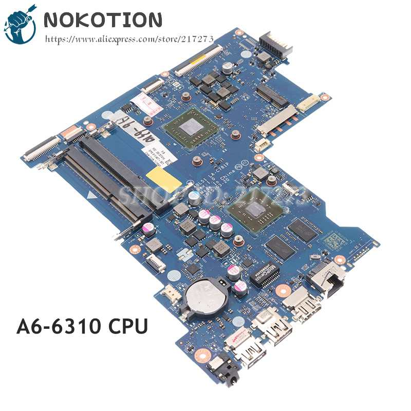 NOKOTION 818487-001 818487-501 ABL51 LA-C781P ل HP بافيليون 15-AF اللوحة المحمول A6-6310 CPU R5 M330 GPU
