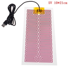 USB 5/12V Heating Heater Pad Massage For Warming Body Foot Winter Portable Warm Plate For Mouse Pad Shoes Golves Health Care