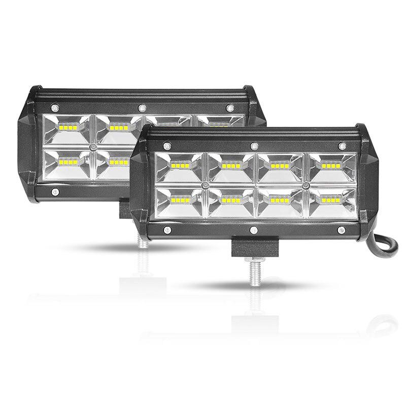 Barra de luz led DERI de 7 pulgadas de ancho para trabajo, barra de luz led para conducción de barcos, coches, tractores, camiones 4x4 SUV 12V 24V barra led