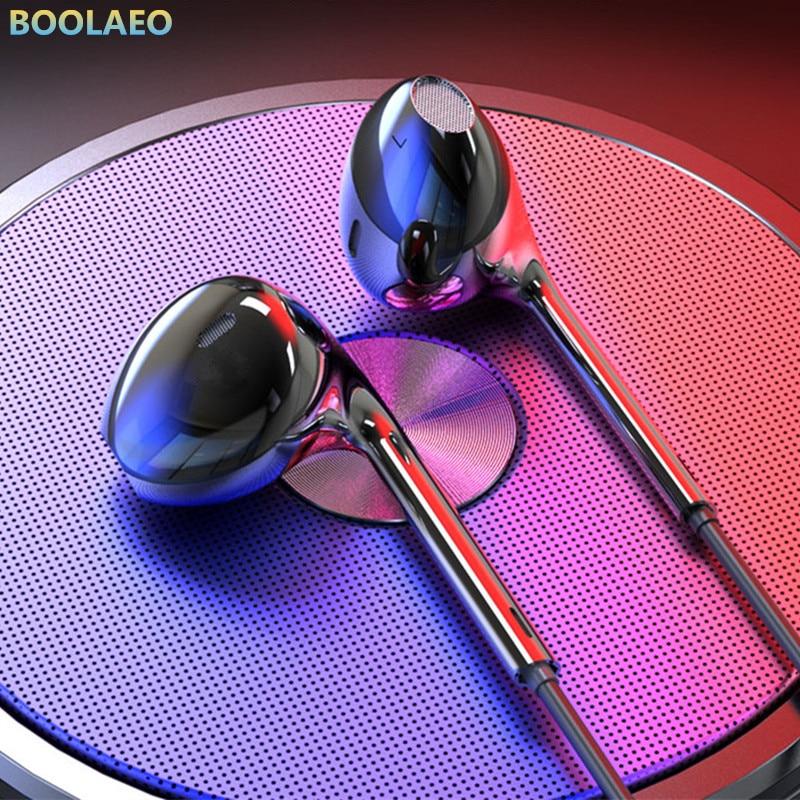 Auriculares de sonido HiFi intrauditivos deportivos con micrófono para xiaomi, iPhone y Samsung, auriculares de graves con cable para MP3