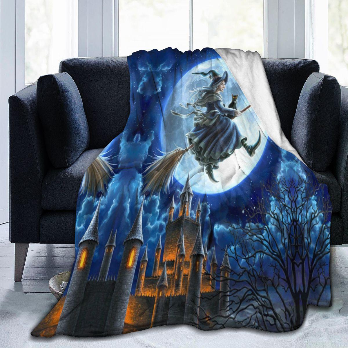 هالوين ثلاثية الأبعاد بطانية قطيفة مطبوعة ، شخصية بطانية ناعمة ورقيقة ، بدلا من الفراش ، الفانيلا غرفة نوم الأطفال الكبار لينة