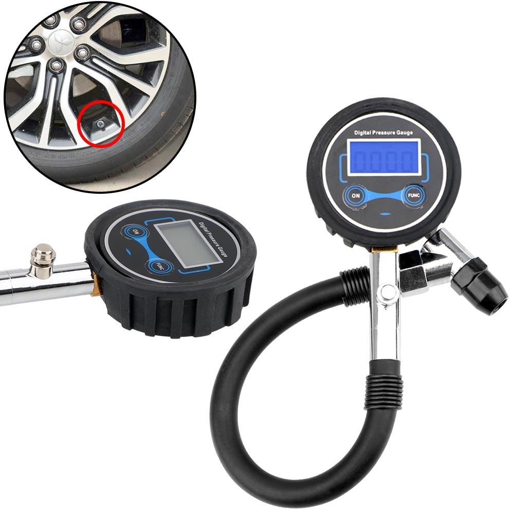 Auto Tire Pressure Gauge LCD Display Tire Repair Tools Inflator Pumps for Car Truck Vehicle Motorcycle Car Digital Tire Tester