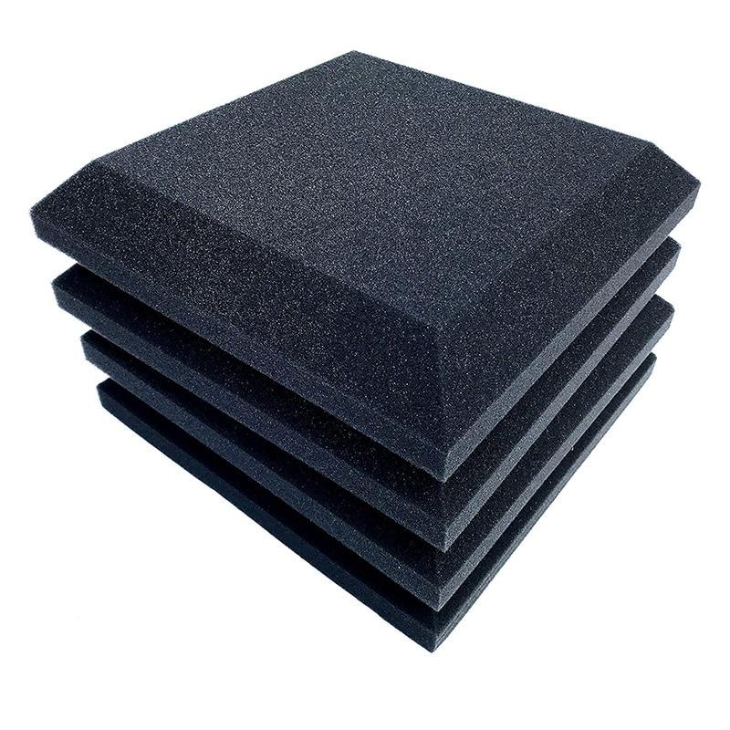12 painéis de espuma acústica dos pces, 2 Polegada x 12 Polegada x 12 absorção sadia acústica da espuma Polegada, som à prova de som, usado em casa